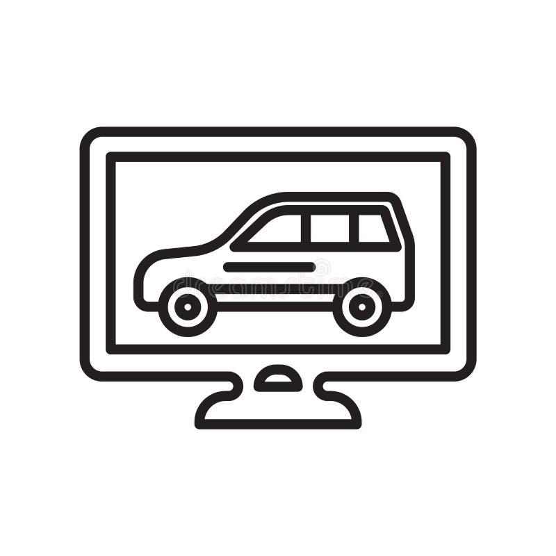 Диагностический знак и символ вектора значка изолированные на белом backgro бесплатная иллюстрация