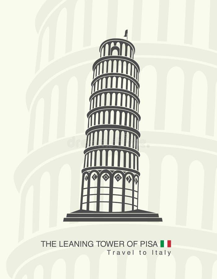 Диаграмма башня склонности Пизы иллюстрация штока