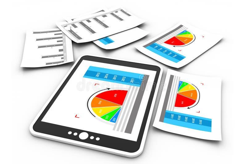 Диаграмма бизнес-отчетов иллюстрация вектора