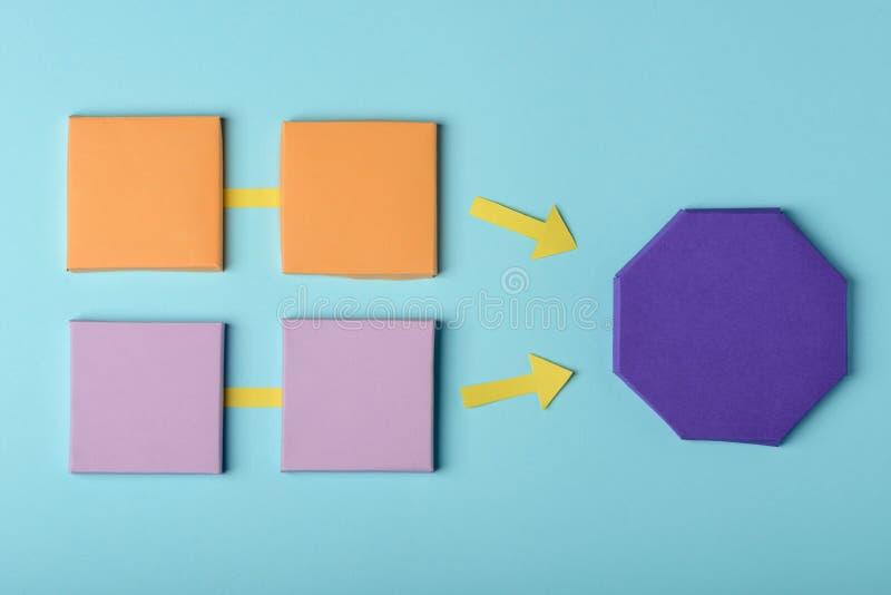 диаграмма бумаги 3D на сини стоковое фото