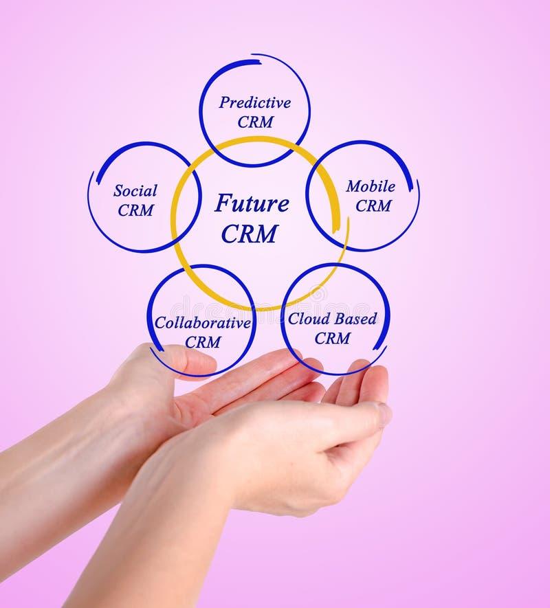 Диаграмма будущего CRM стоковое изображение