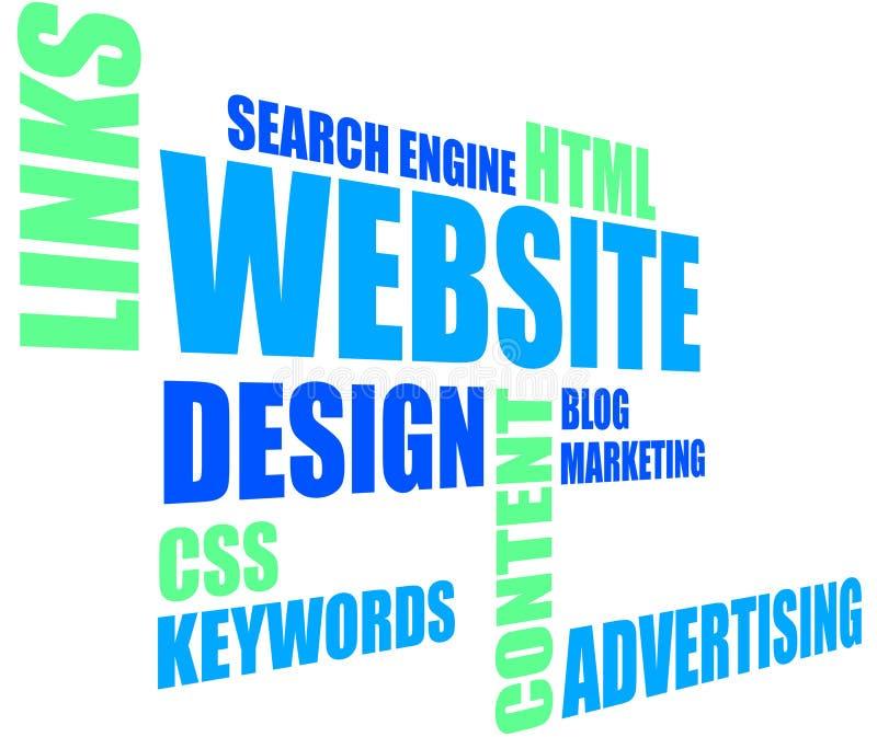 Диаграмма вебсайта стоковое изображение rf