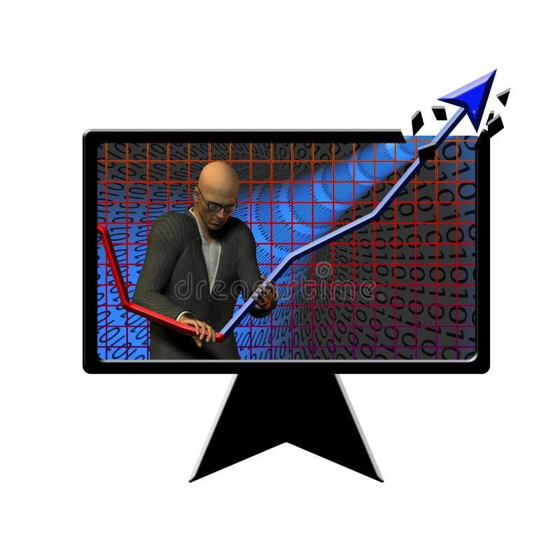диаграмма взрыва иллюстрация вектора