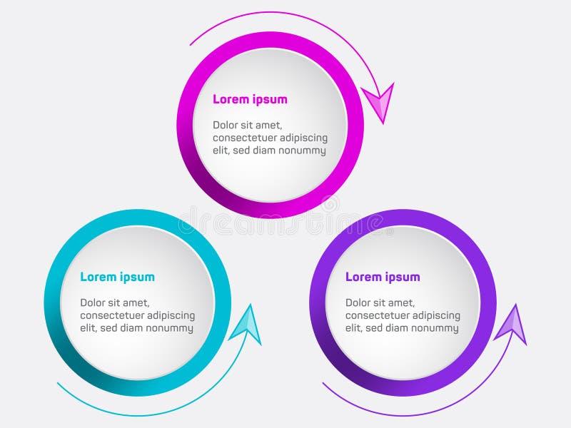 Диаграмма визуализирования коммерческих информаций Шаблон вектора значков срока infographic, проект процесса диаграммы элементов  иллюстрация вектора
