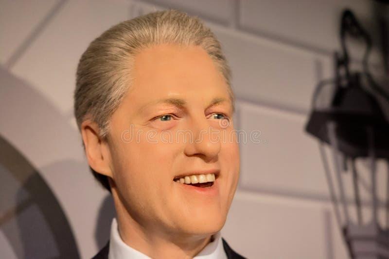 Диаграмма воска Билла Клинтона стоковая фотография rf