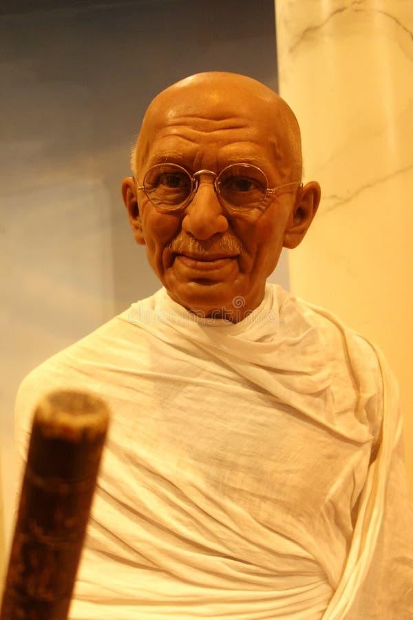 Диаграмма воска Махатма Ганди стоковые изображения