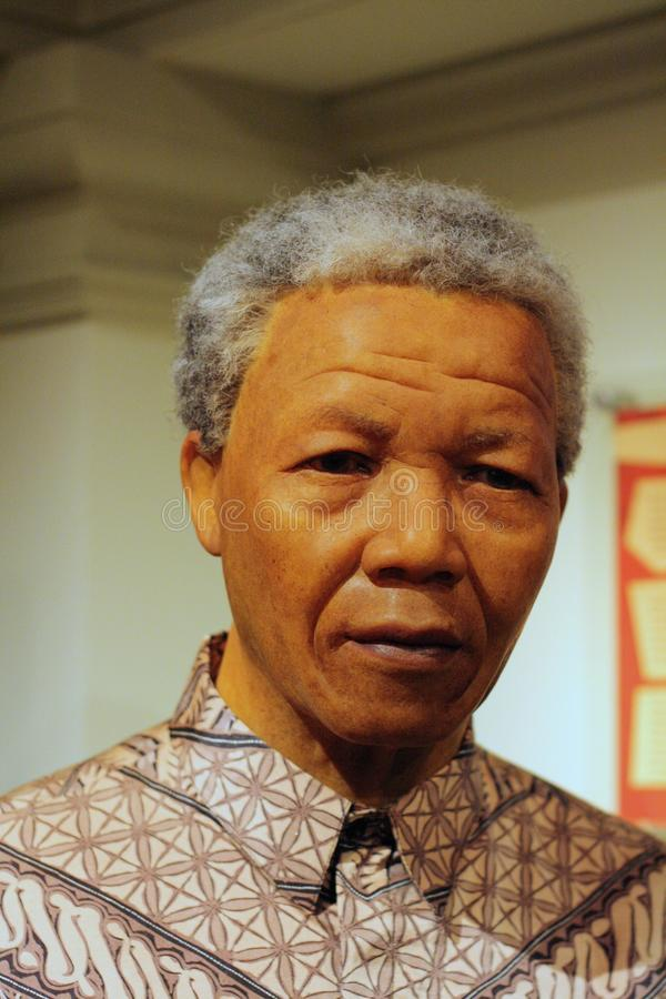 Диаграмма воска Нельсон Мандела стоковое изображение rf