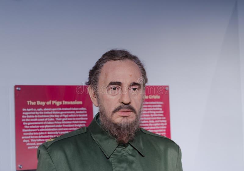 Диаграмма воска Фиделя Кастро стоковое фото rf