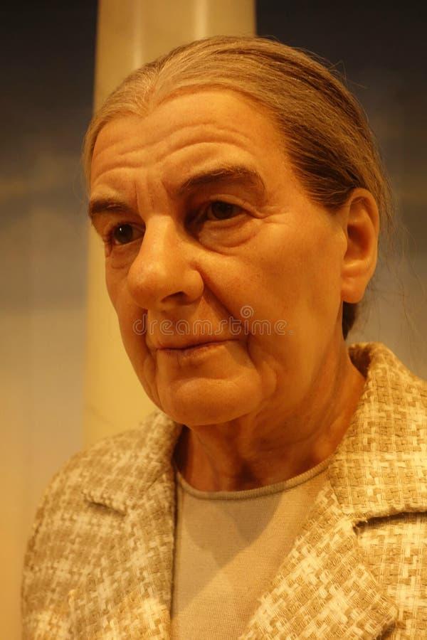 Диаграмма воска Golda Meir стоковое изображение rf