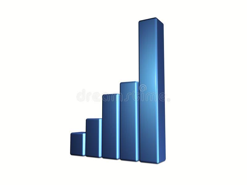 диаграмма в виде вертикальных полос иллюстрация вектора