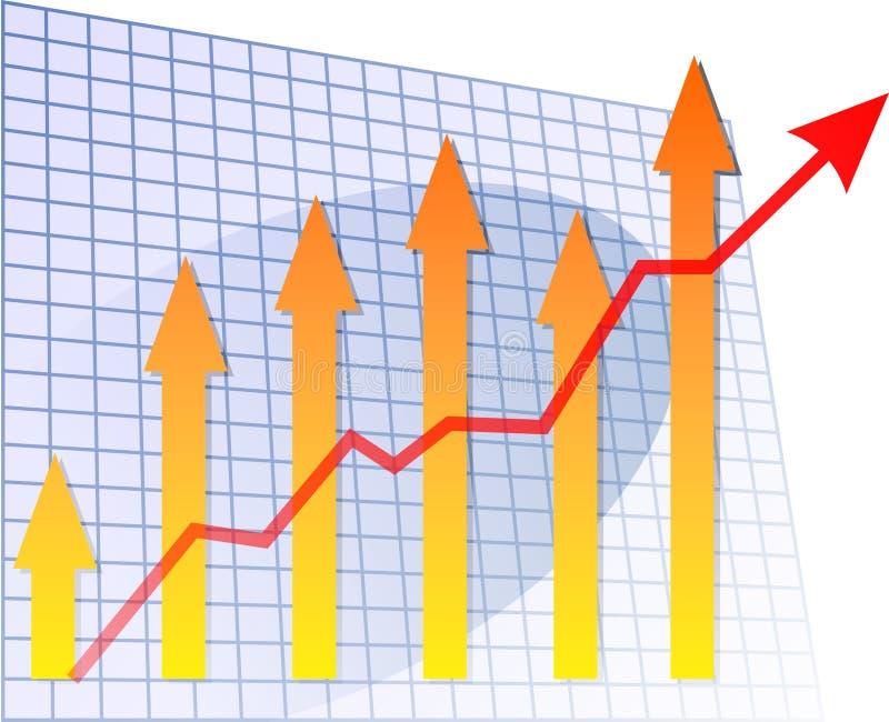 диаграмма в виде столбов стрелки вверх иллюстрация вектора