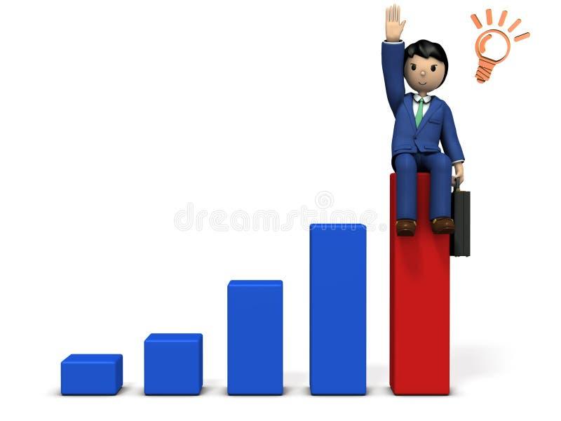 Диаграмма в виде вертикальных полос представляя успех в бизнесе бесплатная иллюстрация