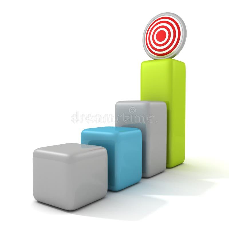 Диаграмма в виде вертикальных полос принципиальной схемы целевого маркетинга дела иллюстрация вектора