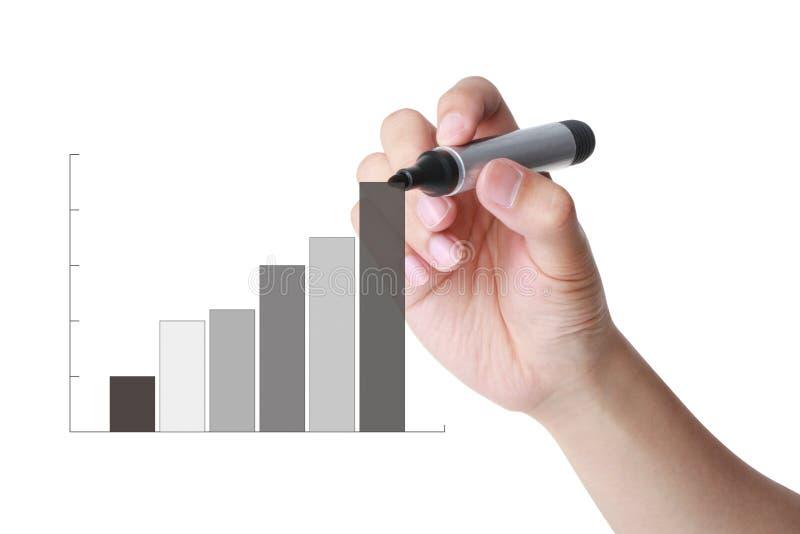 Диаграмма в виде вертикальных полос эффективности бизнеса стоковое фото rf