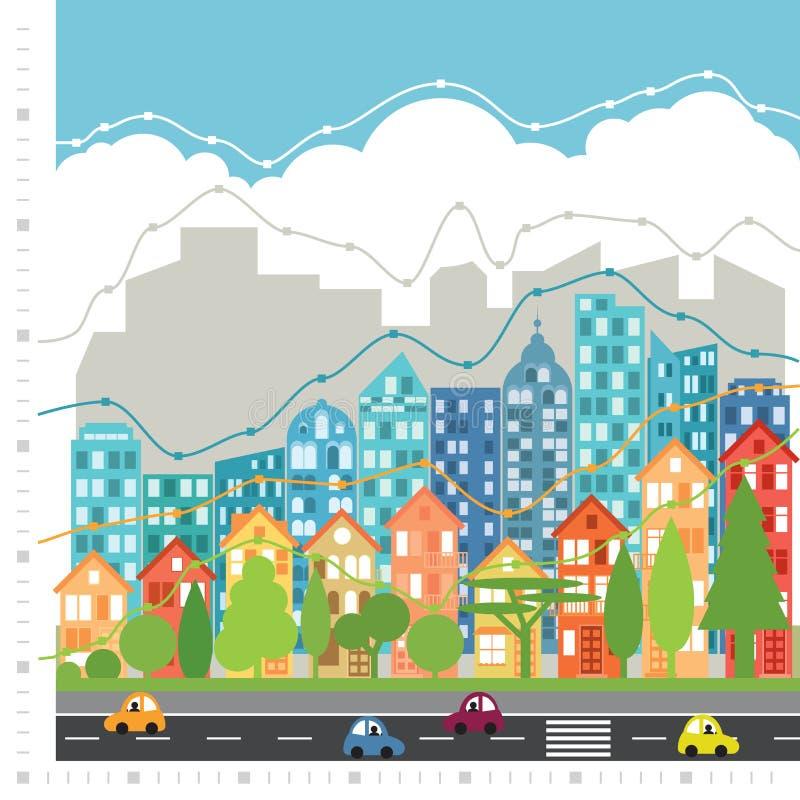 Диаграмма города infographic стоковое фото
