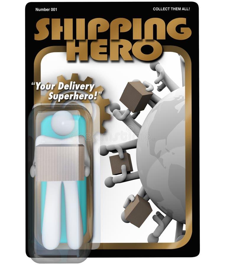 Диаграмма действия работник доставляющий покупки на дом героя перевозкы груза Shipper иллюстрация штока