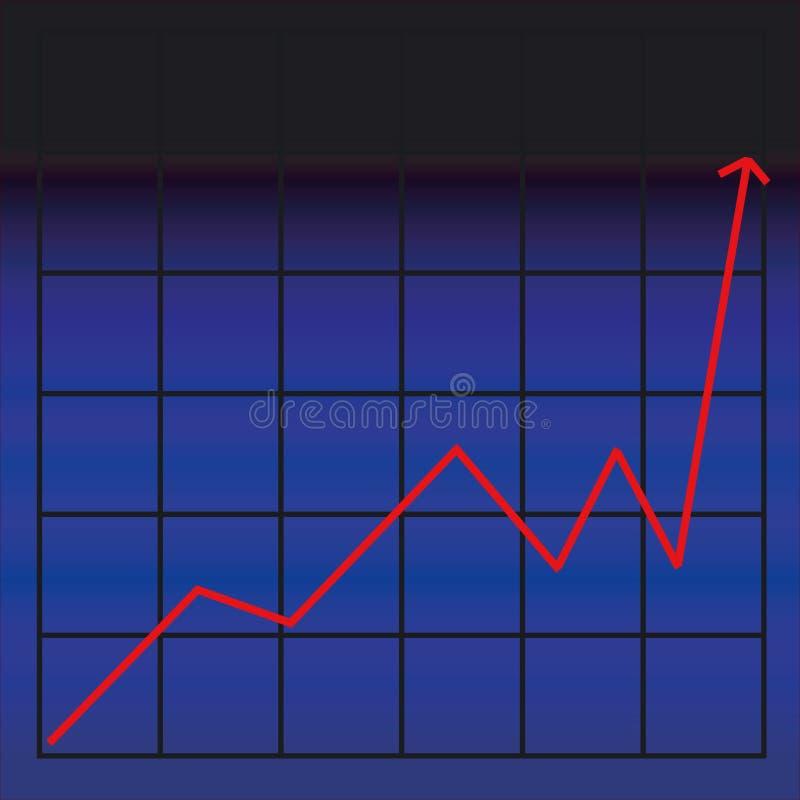 диаграмма дела иллюстрация штока