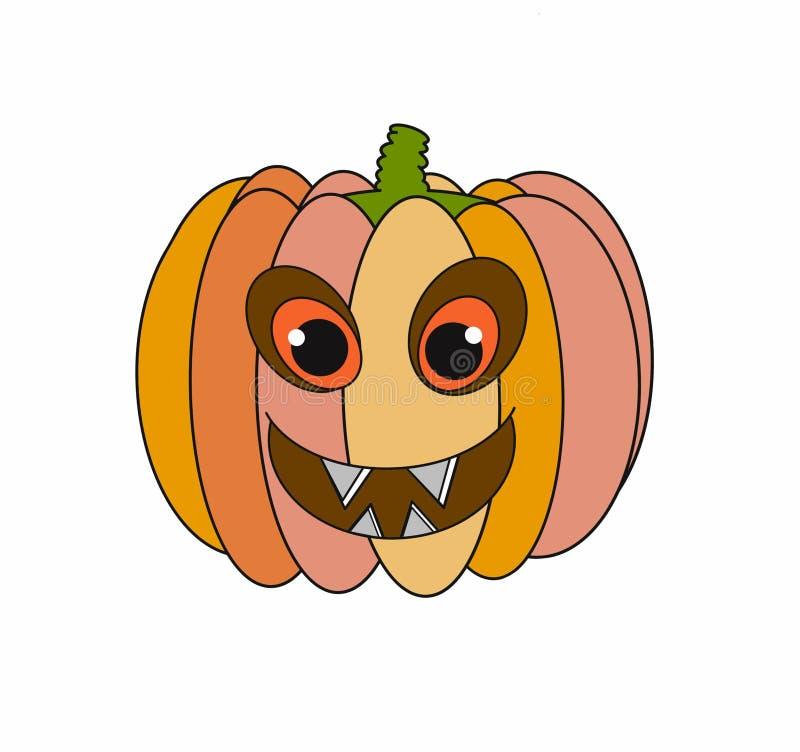 Диаграмма Джека тыквы для изолированной иллюстрации хеллоуина праздника 2D на белизне бесплатная иллюстрация