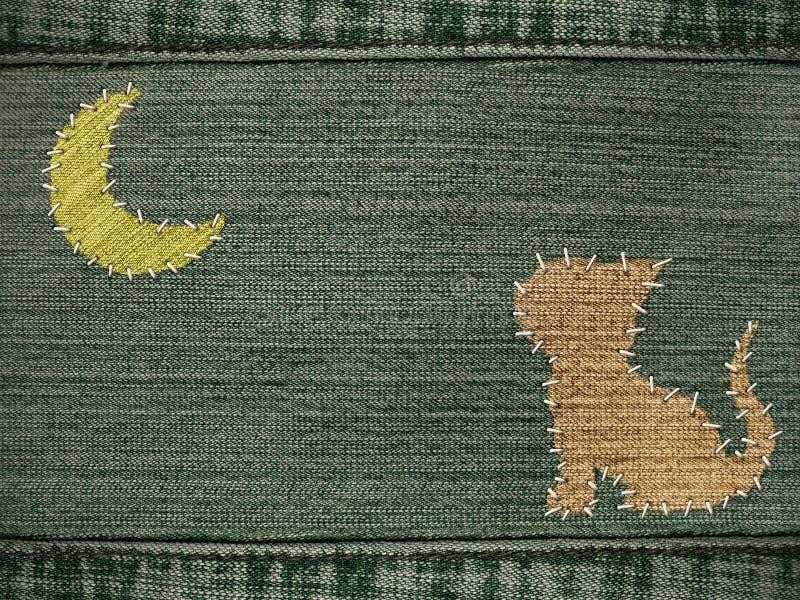 диаграмма джинсыы кота предпосылки стоковое изображение rf