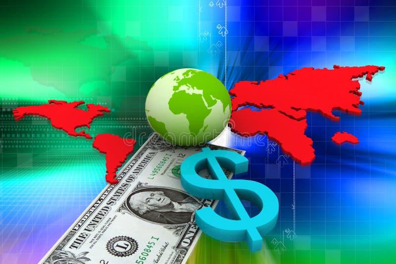 диаграмма доллара дела бесплатная иллюстрация