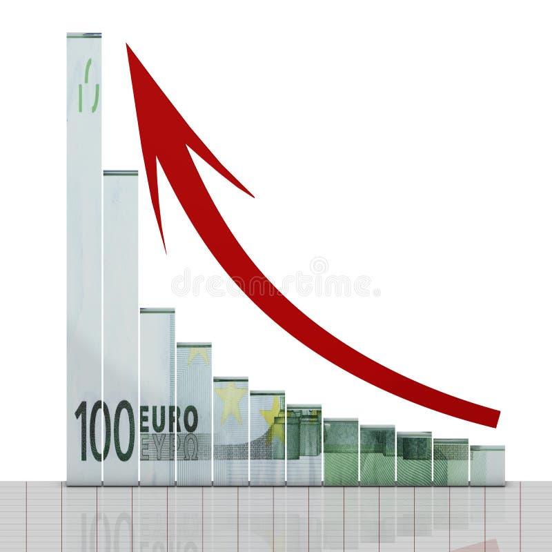диаграмма евро растет иллюстрация штока