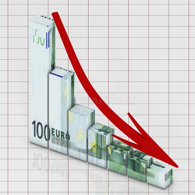 диаграмма евро иллюстрация вектора