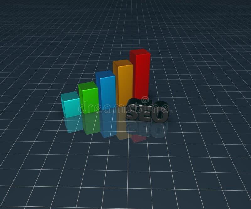 Диаграмма дела и бирка seo бесплатная иллюстрация
