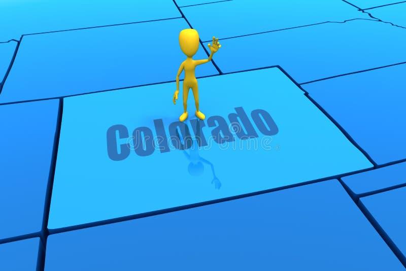 диаграмма желтый цвет colorado ручки положения плана иллюстрация вектора