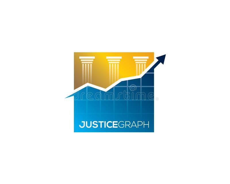 Диаграмма закона правосудия Hitech восходя с наконечником стрелы перед 3 штендерами иллюстрация вектора