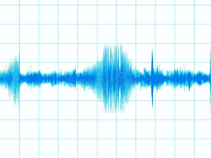 диаграмма землетрясения иллюстрация штока