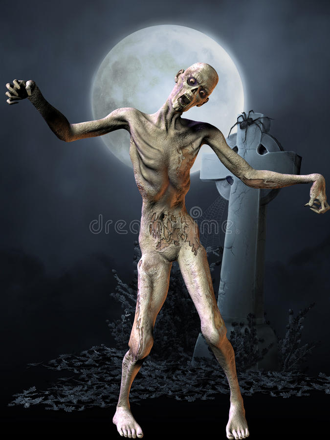 диаграмма зомби halloween иллюстрация вектора