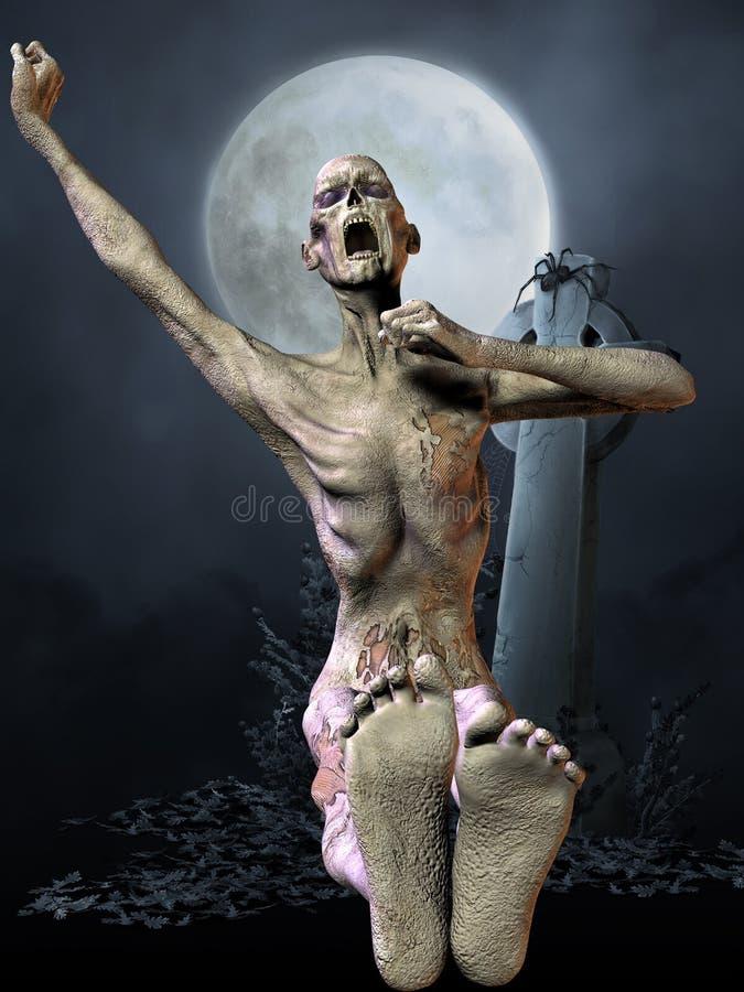 диаграмма зомби halloween бесплатная иллюстрация