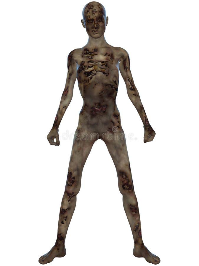 диаграмма зомби halloween иллюстрация штока