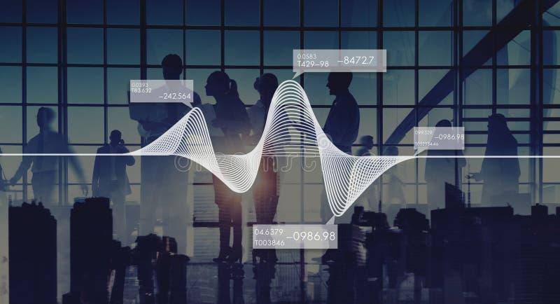 Диаграмма изображает диаграммой концепцию данным по запаса статистик информации стоковая фотография rf