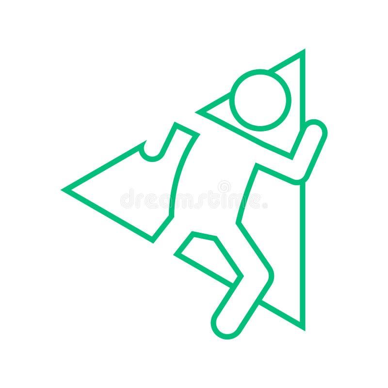 Диаграмма иллюстрация спорта плана бега марафона формы треугольника вектора символа иллюстрация штока