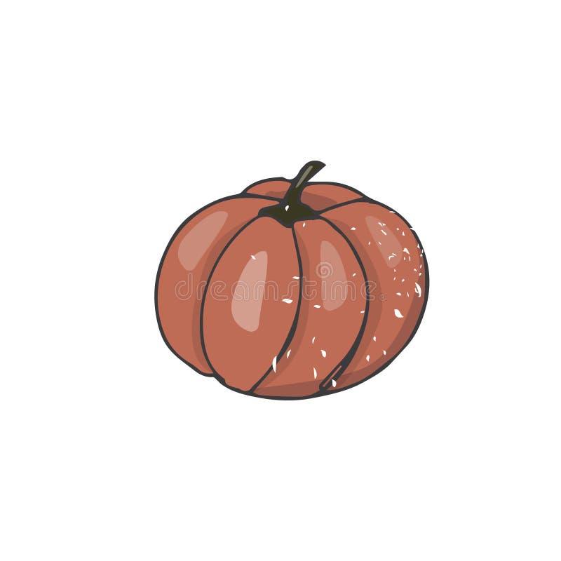 Диаграмма иллюстрация тыквы искусства зажима рисуя vege затрапезного плодоовощ veg сада текстуры цвета геометрического элемента с иллюстрация вектора