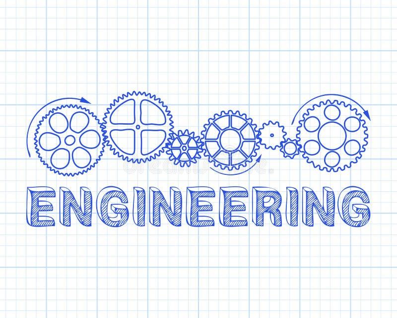 Диаграмма Инджиниринга иллюстрация вектора
