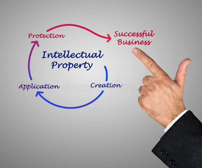 Диаграмма интеллектуальной собственности стоковые изображения rf