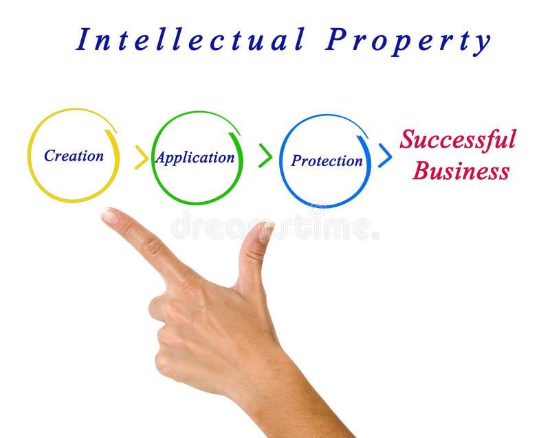 Диаграмма интеллектуальной собственности стоковые изображения