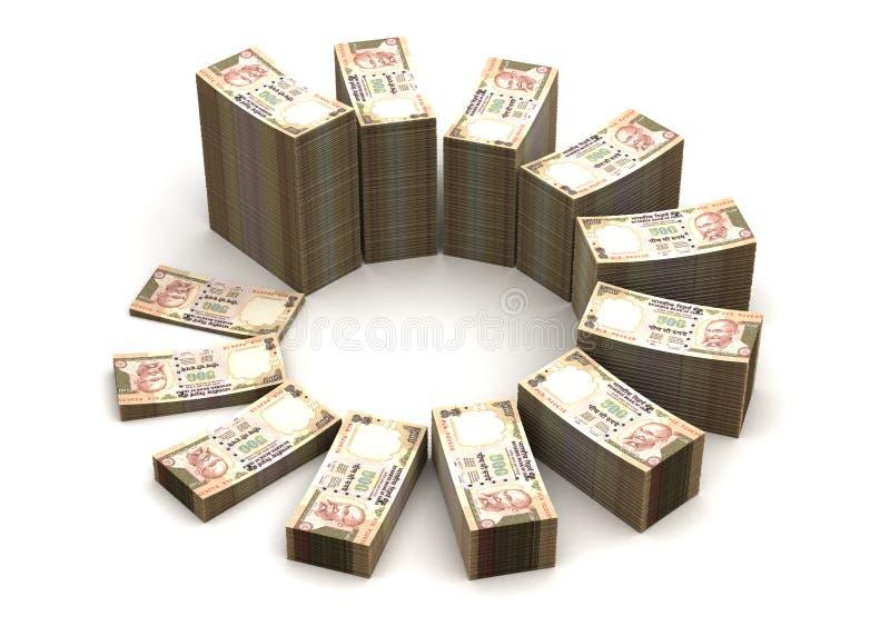 Диаграмма индийской рупии иллюстрация штока