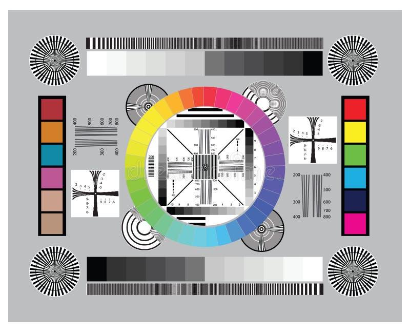 Диаграмма испытания объектива иллюстрация вектора