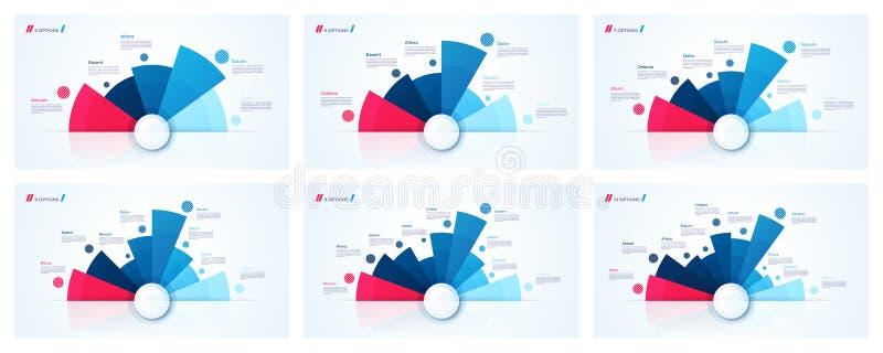 Диаграмма круга вектора конструирует, современные infographic шаблоны иллюстрация вектора
