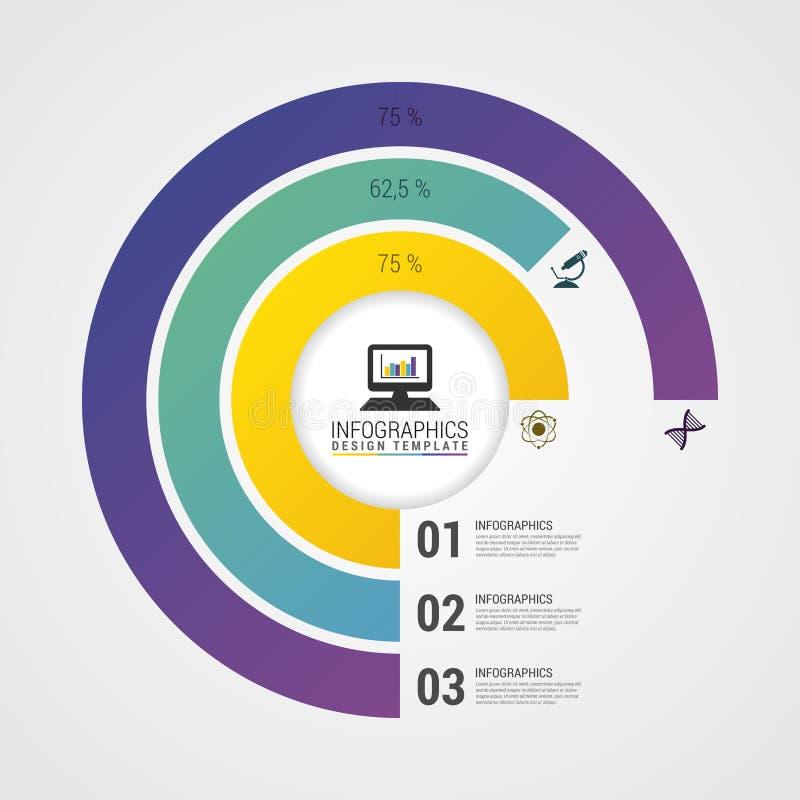 Диаграмма круга долевой диограммы Современный шаблон дизайна Infographics вектор бесплатная иллюстрация