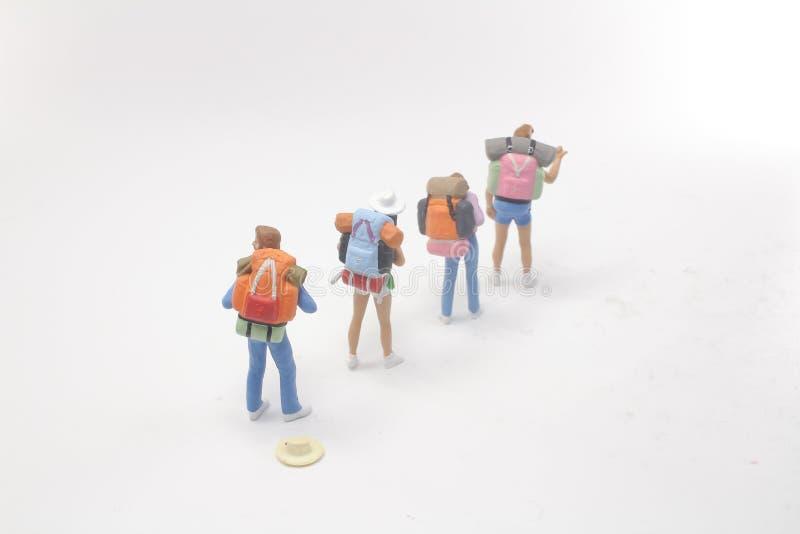 диаграмма людей группы мини стоя дальше стоковые фотографии rf