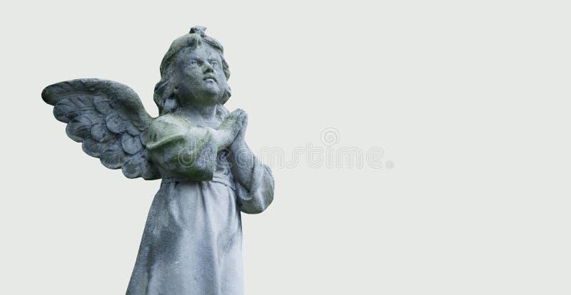 Диаграмма моля ангела на белой предпосылке стародедовская статуя стоковые фотографии rf