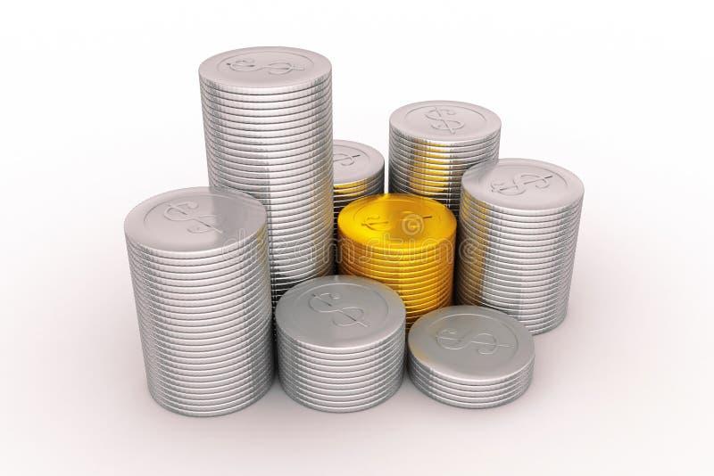 Диаграмма монетки бесплатная иллюстрация