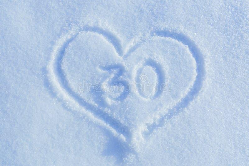 Диаграмма 30 написанного в снеге стоковое изображение rf