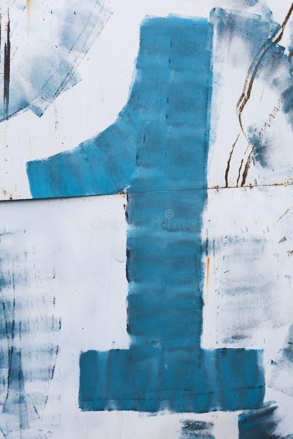 Диаграмма одна синь стоковое фото