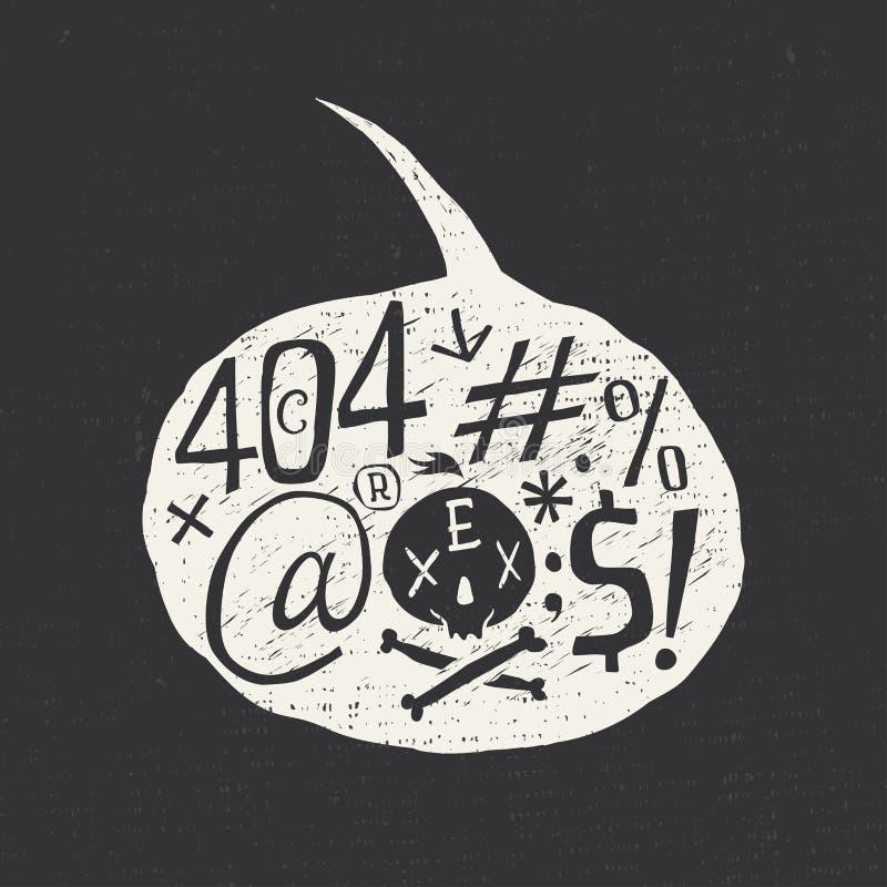 Диаграмма 404 ошибка иллюстрация вектора