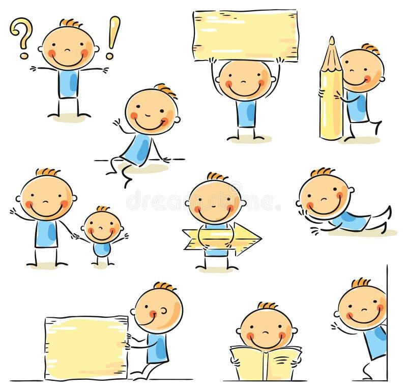 Диаграмма персонаж из мультфильма ручки иллюстрация штока